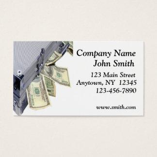 Kasten der Geld-Visitenkarte Visitenkarten