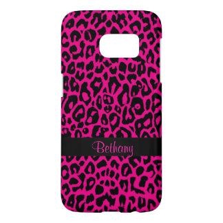 Kasten der Pink-Leopard-Tierdruck-Galaxie-S7