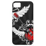 Kasten der Rock'n'Roll-Vintager Winged Gitarren iP iPhone 5 Etui