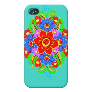 Kasten des Monogramm-Blumen-Blumenstraußes iphone4 iPhone 4 Etui