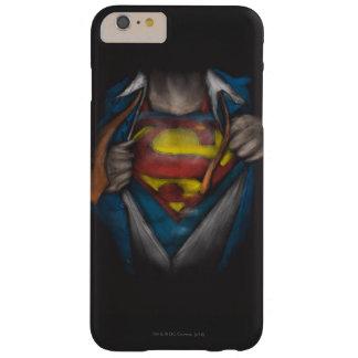 Kasten des Supermann-| decken Skizze Colorized auf Barely There iPhone 6 Plus Hülle