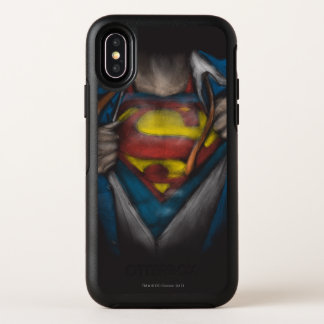 Kasten des Supermann-| decken Skizze Colorized auf OtterBox Symmetry iPhone X Hülle
