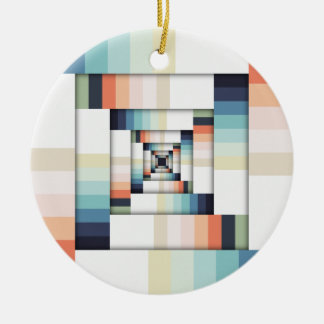 Kästen Farben Rundes Keramik Ornament