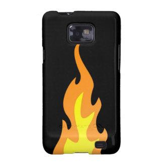 Kasten Flammen-Samsung-Galaxie-S Galaxy S2 Hülle