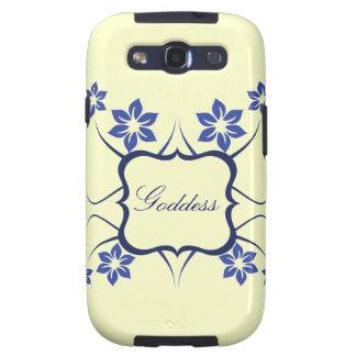 Kasten Göttin-BlumenSamsung-Galaxie-S3 blau Hülle Fürs Samsung Galaxy S3