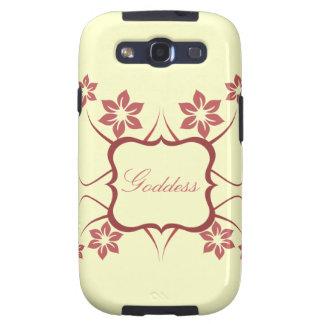 Kasten Göttin-BlumenSamsung-Galaxie-S3 rot Galaxy S3 Schutzhülle