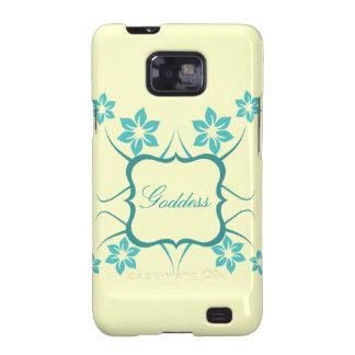 Kasten Göttin-Blumensamsungs-Galaxie-S2, aquamarin Samsung Galaxy SII Case