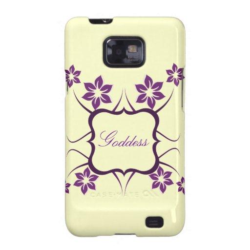 Kasten Göttin-Blumensamsungs-Galaxie-S2, lila Samsung Galaxy SII Cover