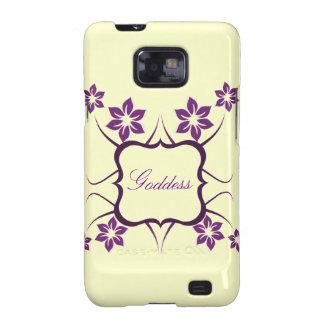 Kasten Göttin-Blumensamsungs-Galaxie-S2 lila Samsung Galaxy SII Cover