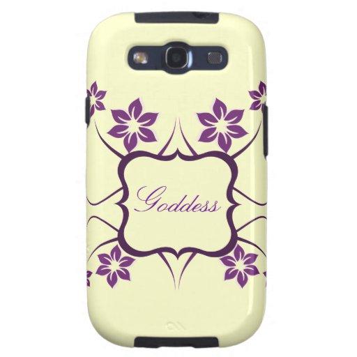Kasten Göttin-Blumensamsungs-Galaxie-S3, lila Samsung Galaxy S3 Schutzhülle