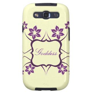 Kasten Göttin-Blumensamsungs-Galaxie-S3 lila Samsung Galaxy S3 Schutzhülle