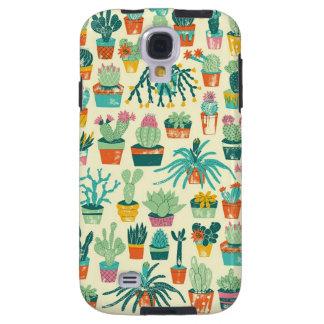 Kasten Kaktus-Blumen-Muster-Samsungs-Galaxie-S4 Galaxy S4 Hülle