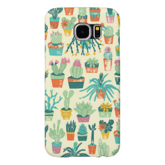 Kasten Kaktus-Blumen-Muster-Samsungs-Galaxie-S6