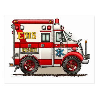 Kasten-LKW-Krankenwagen-Postkarte Postkarte