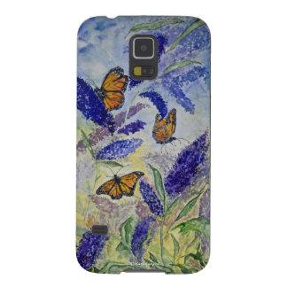 Kasten Monarch-BlumenAquarell-Samsung-Galaxie-S7 Samsung S5 Hülle