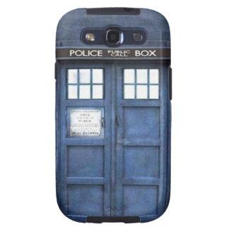 Kasten Polizei-Telefonzelle-Samsung-Galaxie-S Galaxy SIII Etui