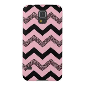 Kasten rosa Glitter-Zickzack Samsungs-Galaxie-S5 Hülle Fürs Galaxy S5