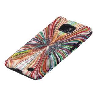 Kasten `` rotes Cristal Flower´´ Samsung-Galaxie-S