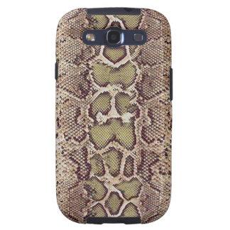 Kasten Schlangen-Haut-Samsung-Galaxie-S Galaxy S3 Etui