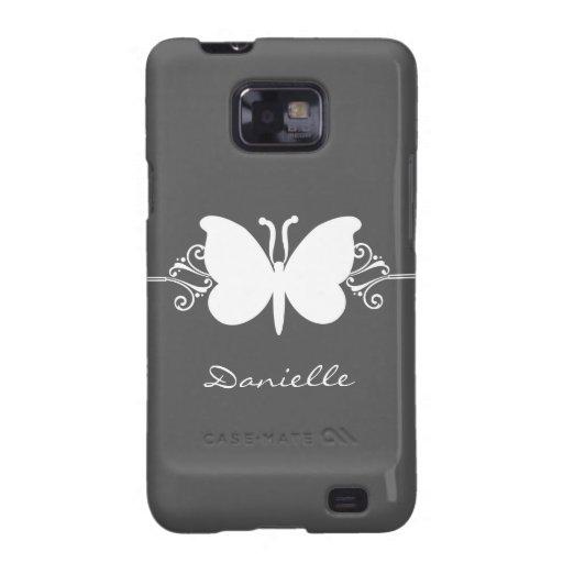 Kasten Schmetterlings-Strudel-Samsung-Galaxie-S2,  Galaxy SII Hülle