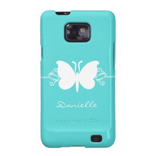 Kasten Schmetterlings-Strudel-Samsung-Galaxie-S2,  Samsung Galaxy SII Hülle