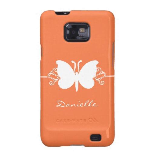 Kasten Schmetterlings-Strudel-Samsung-Galaxie-S2,  Galaxy S2 Hülle