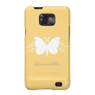 Kasten Schmetterlings-Strudel-Samsung-Galaxie-S2,  Samsung Galaxy S2 Hüllen