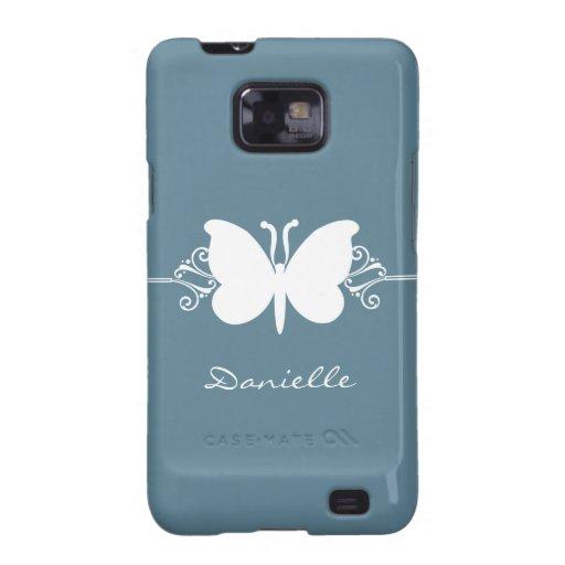 Kasten Schmetterlings-Strudel-Samsung-Galaxie-S2,  Samsung Galaxy S2 Hülle
