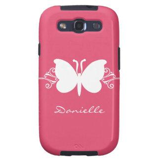 Kasten Schmetterlings-Strudel-Samsung-Galaxie-S3 Etui Fürs Samsung Galaxy S3