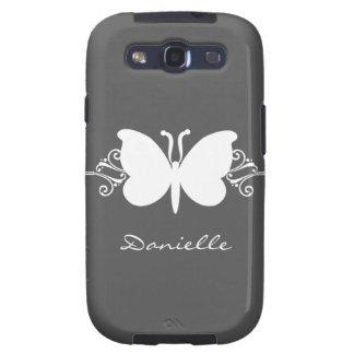 Kasten Schmetterlings-Strudel-Samsung-Galaxie-S3 Etui Fürs Galaxy SIII