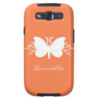 Kasten Schmetterlings-Strudel-Samsung-Galaxie-S3,  Samsung Galaxy S3 Schutzhülle