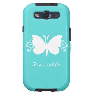 Kasten Schmetterlings-Strudel-Samsung-Galaxie-S3 Schutzhülle Fürs Samsung Galaxy S3