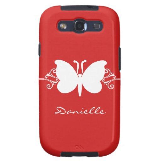 Kasten Schmetterlings-Strudel-Samsung-Galaxie-S3,  Etui Fürs Galaxy SIII