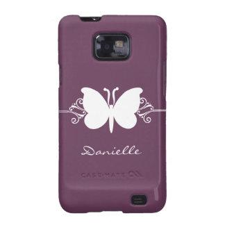 Kasten Schmetterlings-Strudel-Samsungs-Galaxie-S2 Galaxy SII Hüllen