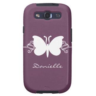 Kasten Schmetterlings-Strudel-Samsungs-Galaxie-S3 Schutzhülle Fürs Galaxy SIII