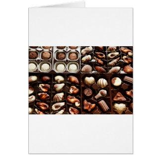 Kasten Schokolade Karte