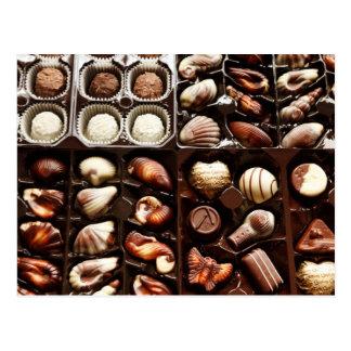 Kasten Schokolade Postkarte