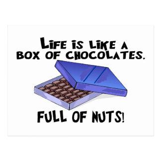Kasten Schokoladen Postkarte
