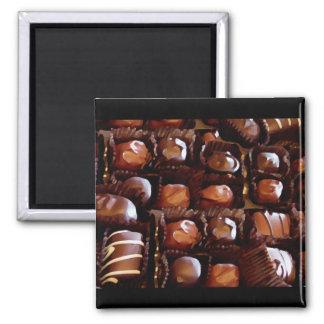 Kasten Schokoladen, verlockende Praline Magnete