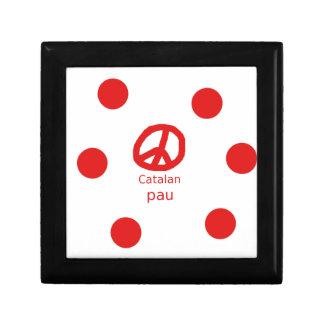 Katalanischer Friedenssymbol-Sprachentwurf Schmuckschachtel