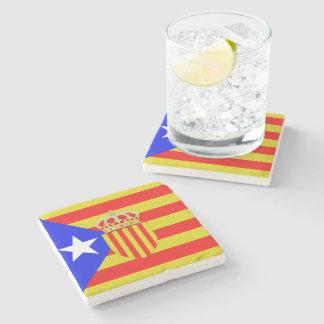 Katalonien-Flagge Steinuntersetzer