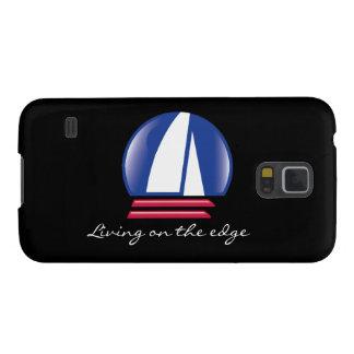 Katamaran Sailing_Blue Moon_Living auf dem Rand Samsung Galaxy S5 Hülle