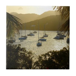 Katamaran und Segelboote Fliese