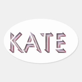 Kate Aufklebername Ovaler Aufkleber