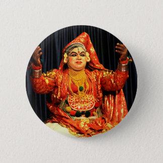 kathakali Künstler Runder Button 5,1 Cm