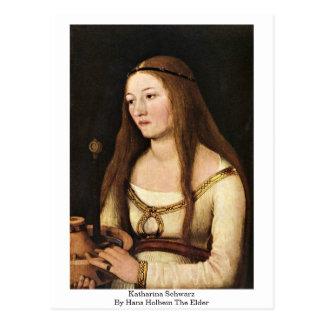 Katharina Schwarz durch Hans Holbein das Älteste Postkarte