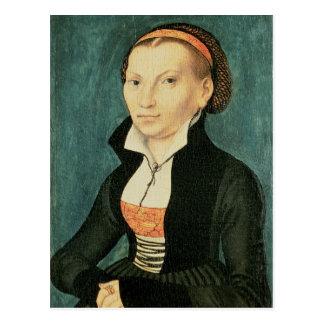 Katharina von Bora, zukünftige Ehefrau von Martin Postkarte