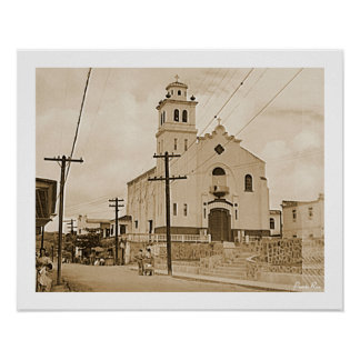 Kathedrale Barranquitas, Geschichte, Puerto Rico Poster