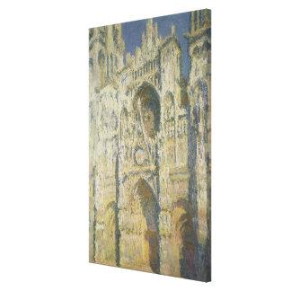 Kathedrale Claude Monets | Rouen im vollen Leinwanddruck