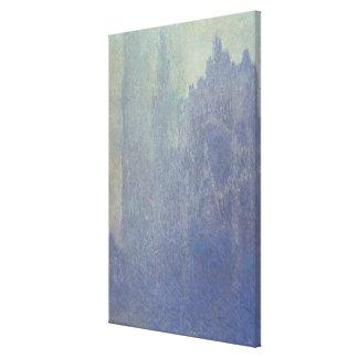 Kathedrale Claude Monets | Rouen, nebeliges Wetter Leinwanddruck